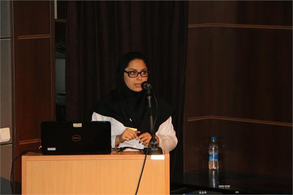 Dr Meraji the manager and Ms Javdanfar the expert of the academy informed faculty members about their operation